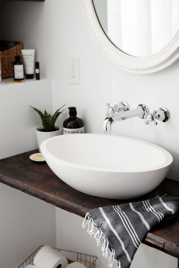 Diy Floating Sink Shelf Themerrythought Unique Bathroom Sinks Bathroom Sink Design Modern Bathroom Sink