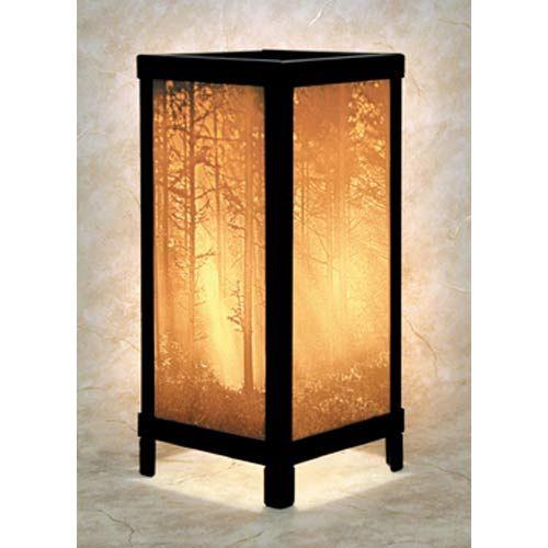 Lithophane Luminaire Woodland Sunbeams Lamp Lamp Accent Lamp Table Lamp