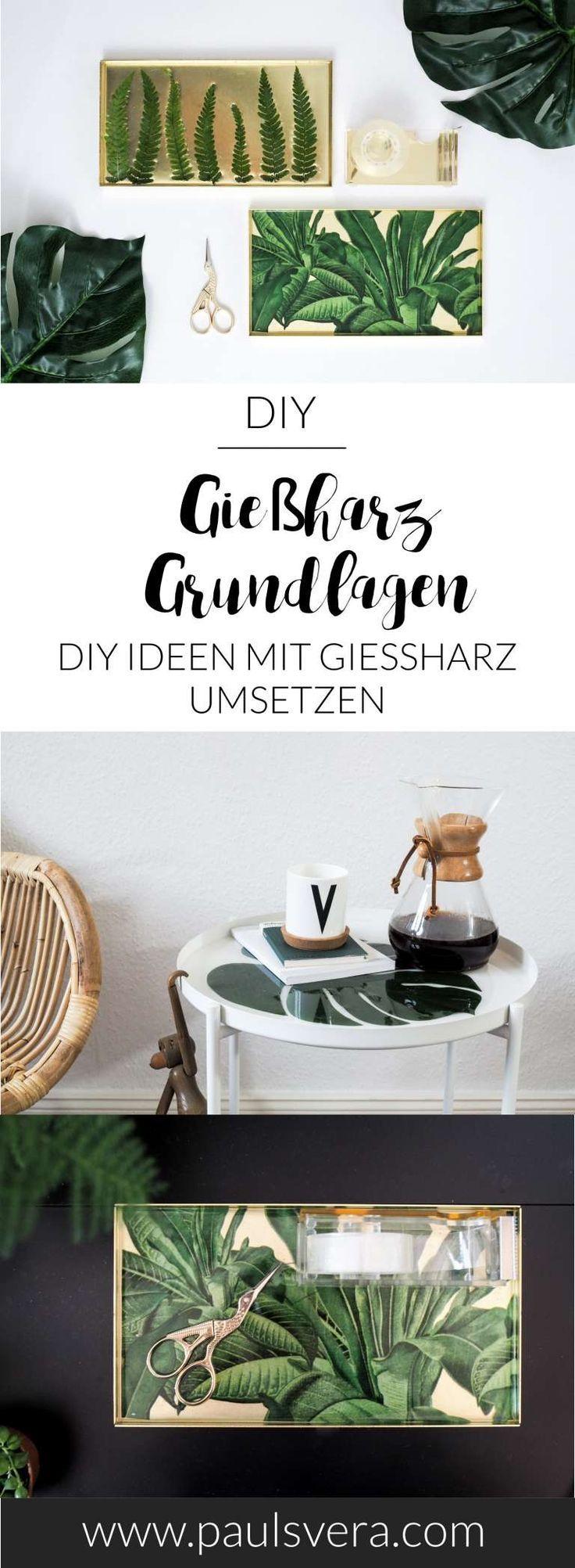 DIY-Basics: Gießharz Grundtechniken