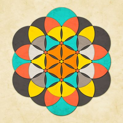 Sacred Geometry: The Flower of life #2 Art Print