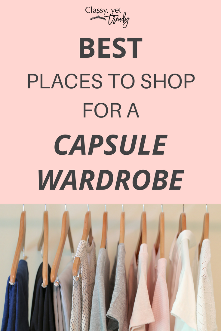 See the best places to shop for a Capsule Wardrobe! If you want to really make a wardrobe interchangeable and have the most outfit possibilities, you need a capsule wardrobe system. The shops offer the best styles in a top, cardigan, tank, blouse, tee, jeans, pants, skirt in spring, summer, fall and winter.