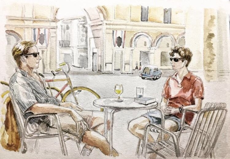 Call Me By Your Name Tumblr Illustration In 2019 Pinterest