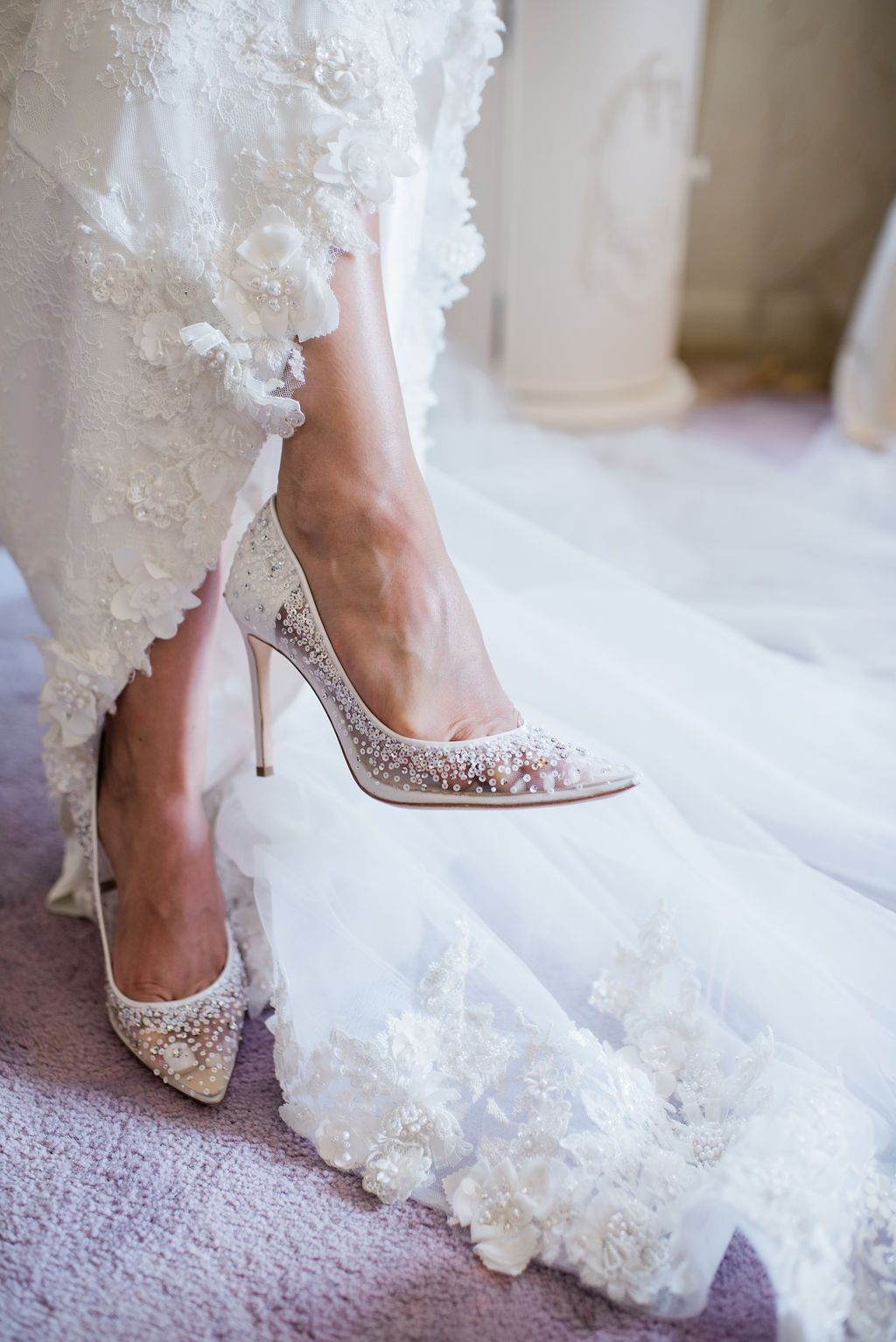 Elsa Sparkly Sequin Ivory Wedding Shoe In 2020 Bridal Wedding