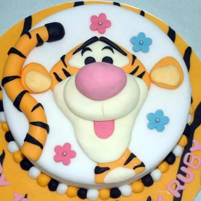 Another Tigger Cake Baby Boy Birthday Cakes Fondant Toppers