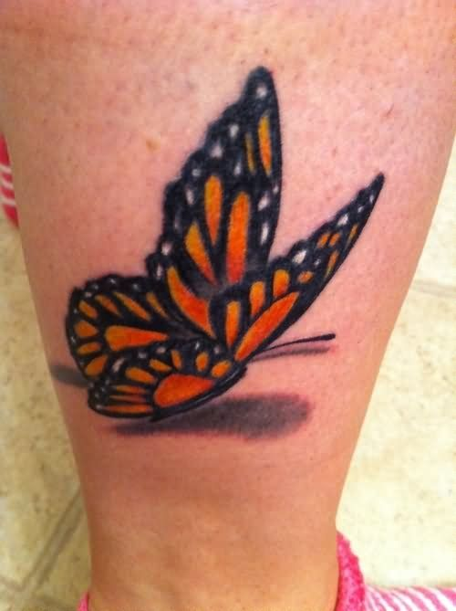 3d Butterfly Tattoo Design For Leg Realistic Butterfly Tattoo