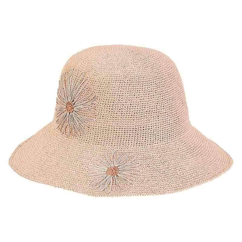 cf93a03f33ff0 Crocheted Summer Hat with Daisies - Sun  n  Sand — SetarTrading Hats