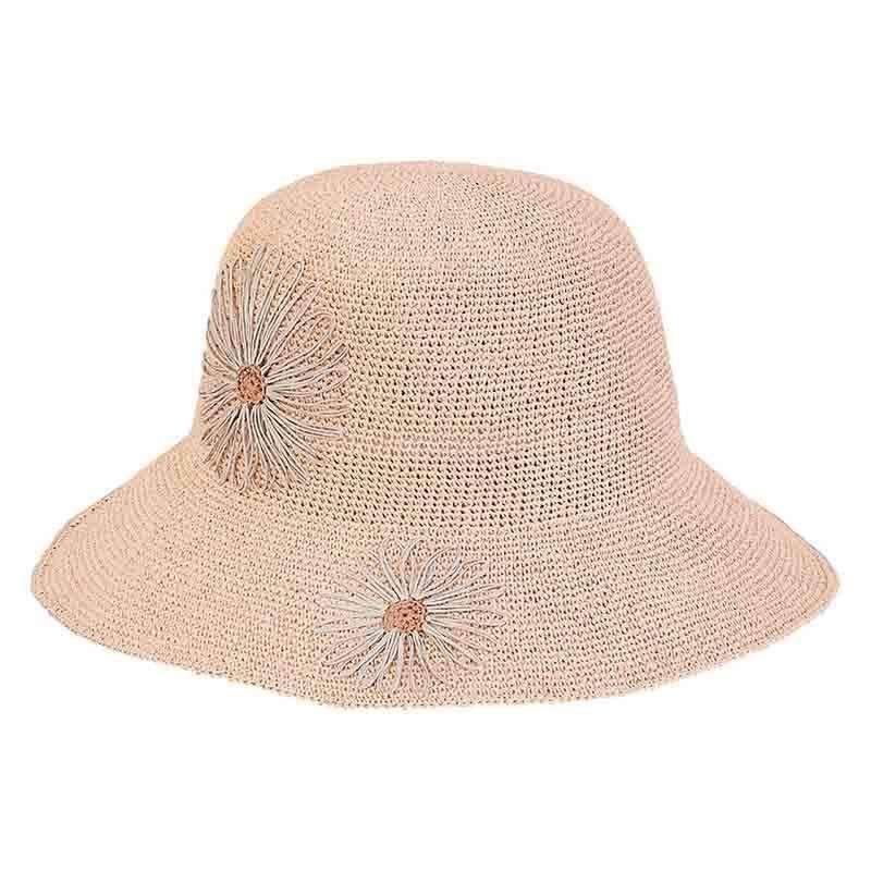 09b4aebf081dd Crocheted Summer Hat with Daisies - Sun  n  Sand — SetarTrading Hats