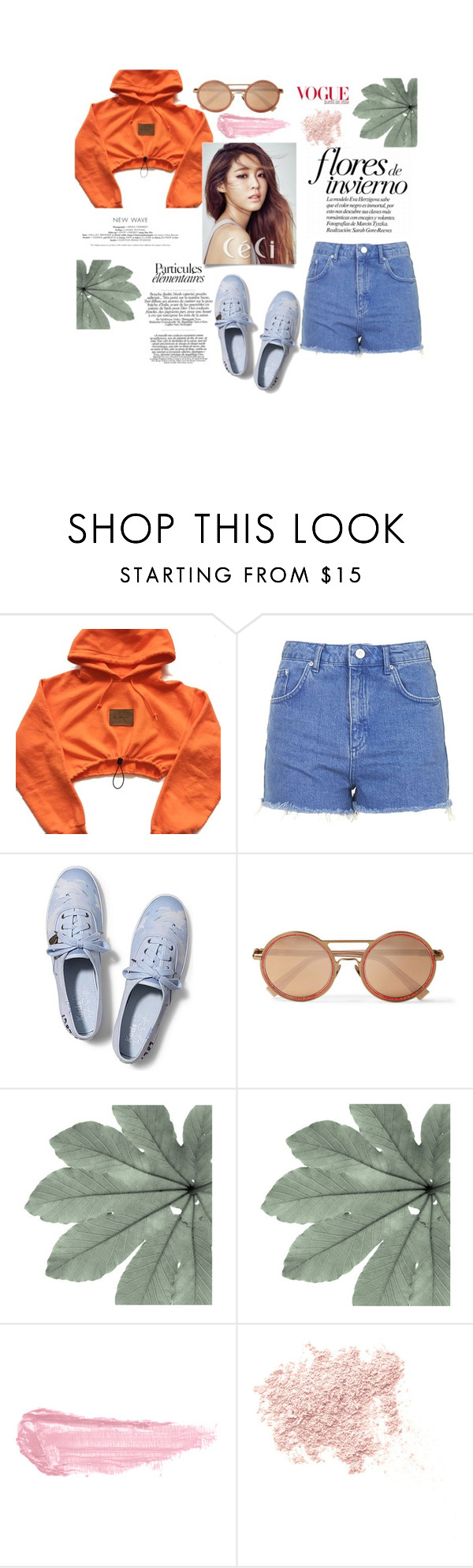"""""""Walking Around"""" by yixingunicorn on Polyvore featuring moda, Topshop, Keds, Cutler and Gross, By Terry ve Bare Escentuals"""