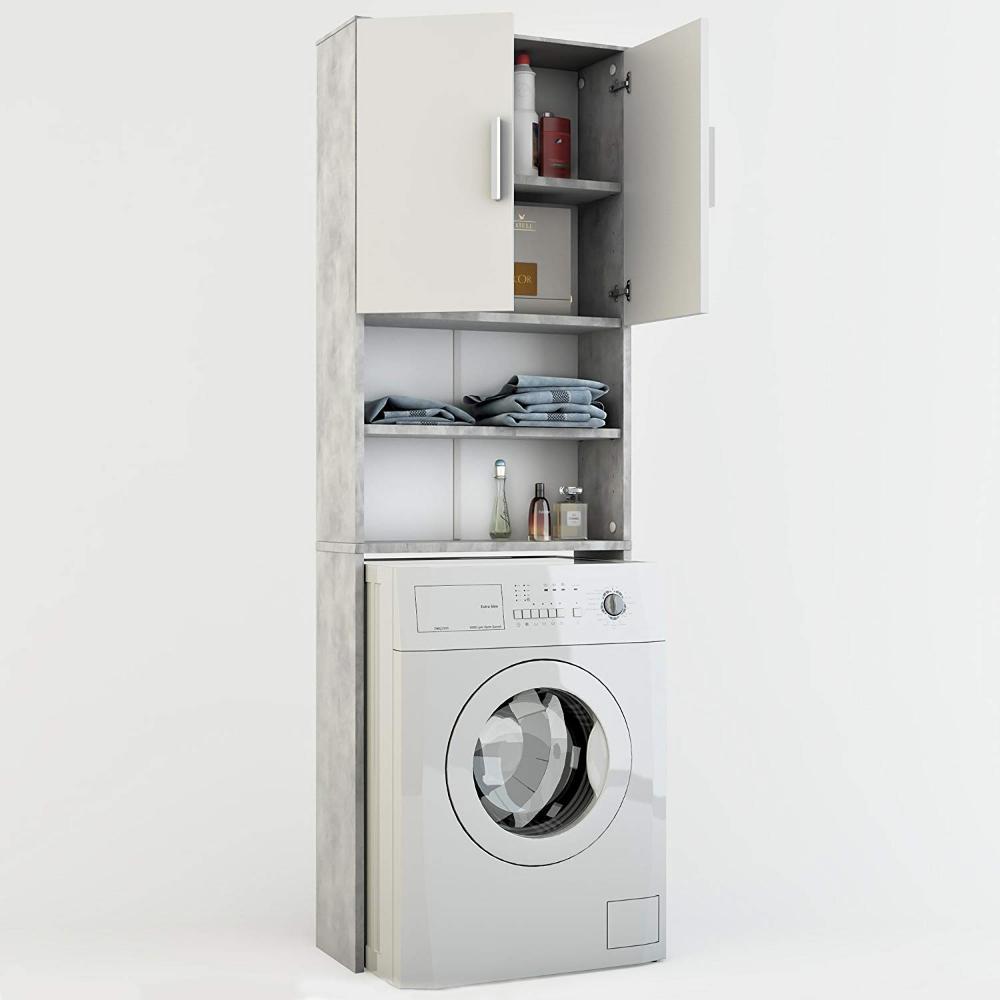 Vicco Waschmaschinenschrank 190 X 64 Cm Badregal Hochschrank