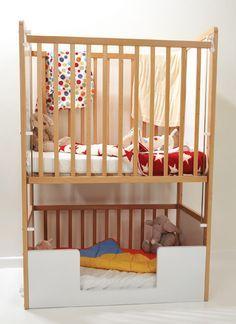 Double-decker cot / crib...A great idea for small apartments ...