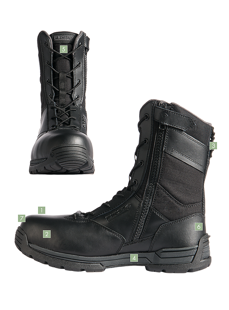 """Men's 8"""" Safety Toe Side Zip Duty Boot Boots, Duty boots"""