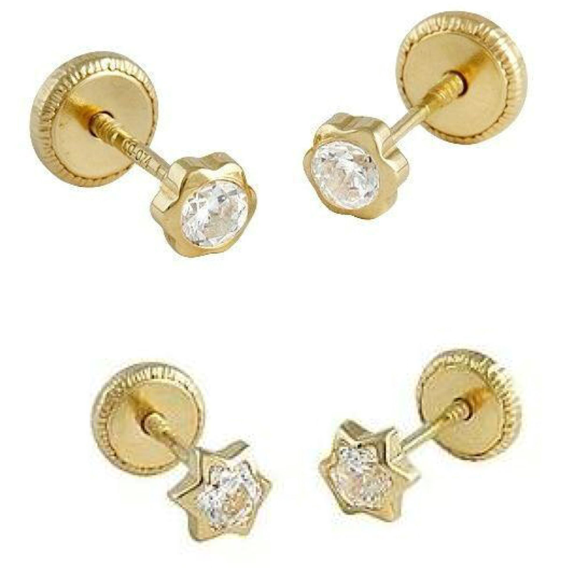 Super cute comfy and safe 18K gold earrings for kids! Plus free ...
