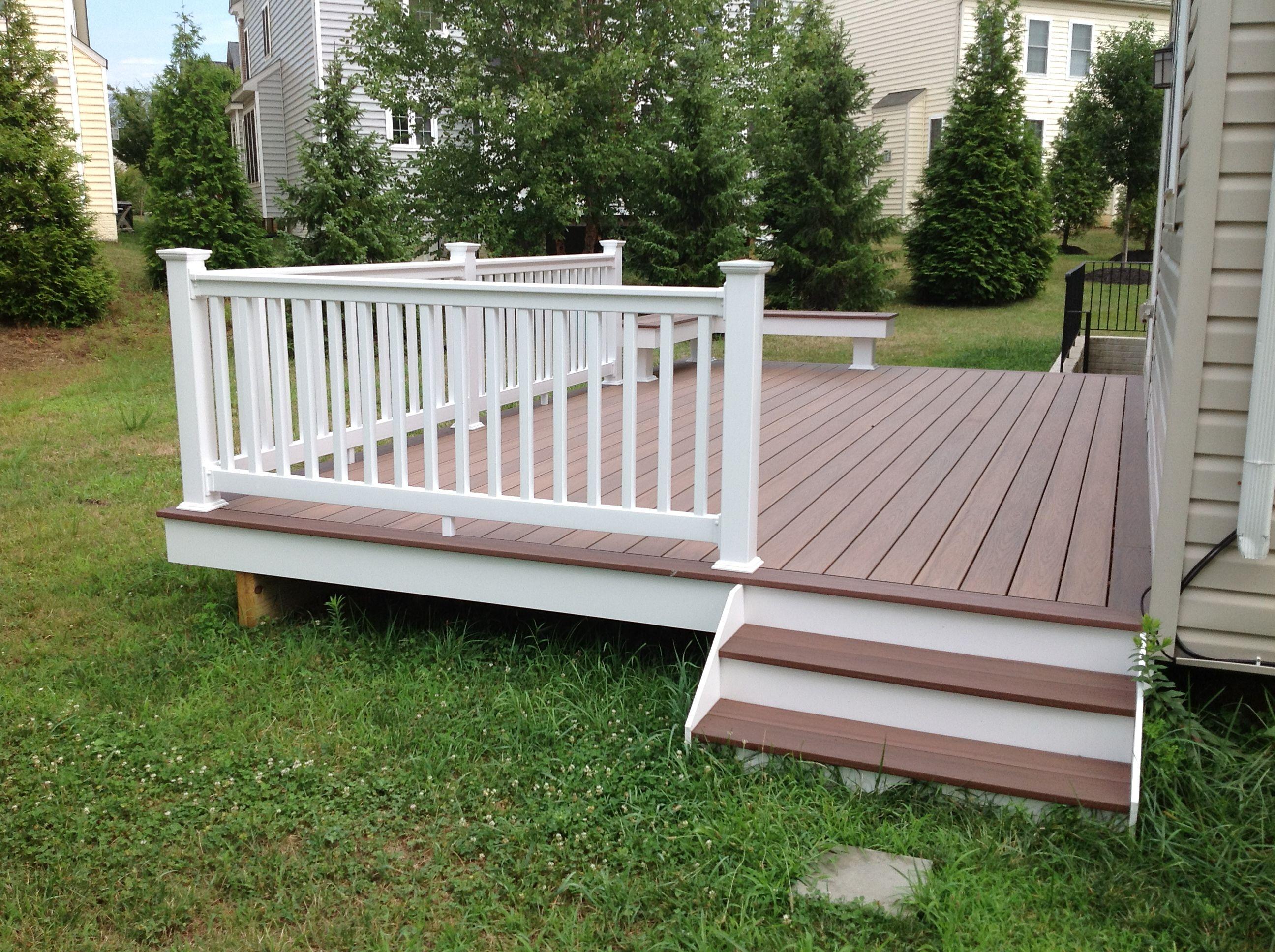 Best Wide Deck Steps Using Wolf Pvc Decking Amberwood Flooring 400 x 300