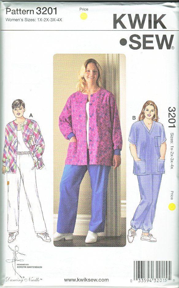 Kwik Sew Sewing Pattern 3201 Women S Plus Size 1x 4x 22w 32w