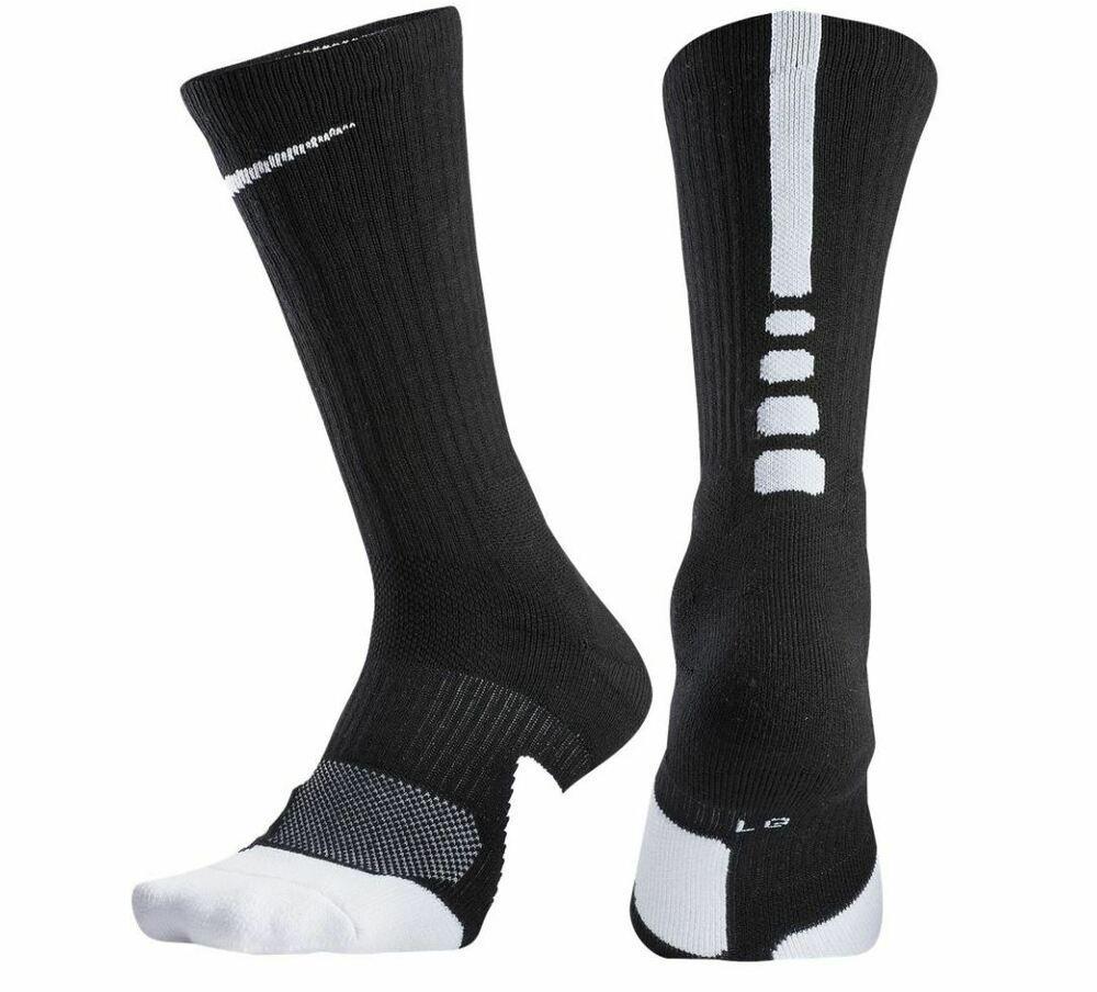 Nike Unisex Youth Elite 1 5 Crew Basketball Socks Black White Small Sx5593 013 Nike Basketball Socks Nike Basketball Socks Socks