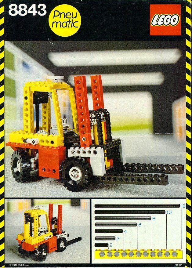 8843 Fork Lift Truck Forklift Technician Lego Lego Technic
