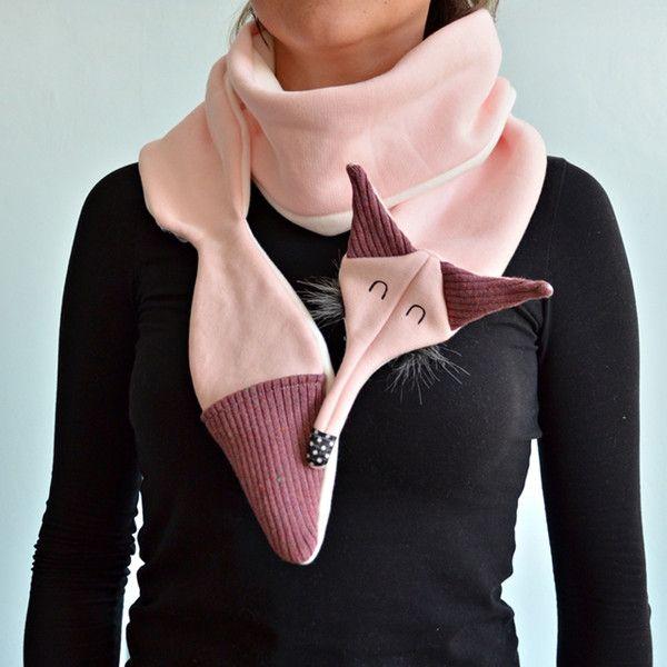 Schals - Scarf Fox pink - ein Designerstück von Lady-Stump bei DaWanda