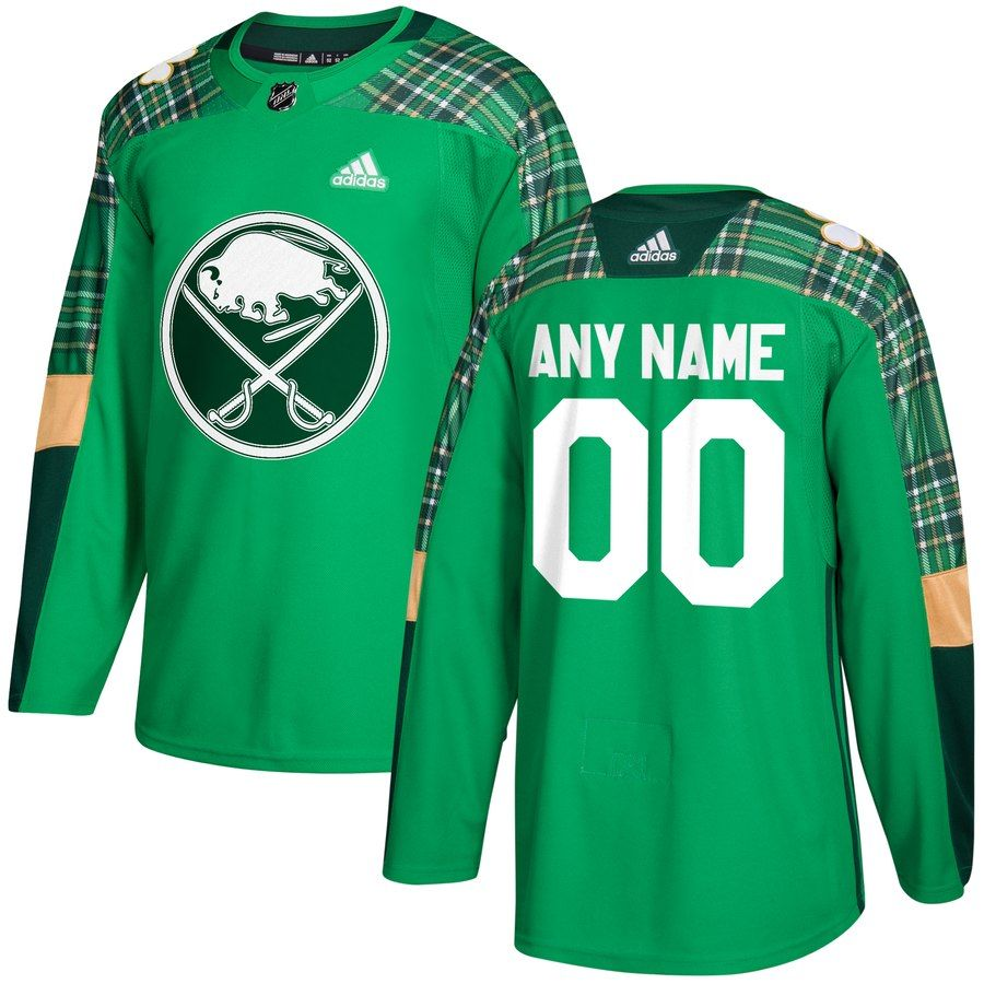 buy online 84542 b26fb Buffalo Sabres adidas St. Patrick's Day Custom Practice ...