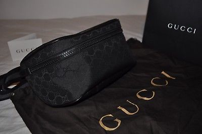 915f215de806 100% Genuine GUCCI Waist Bag Side Bag Brand New Black Fanny pack Bum ...