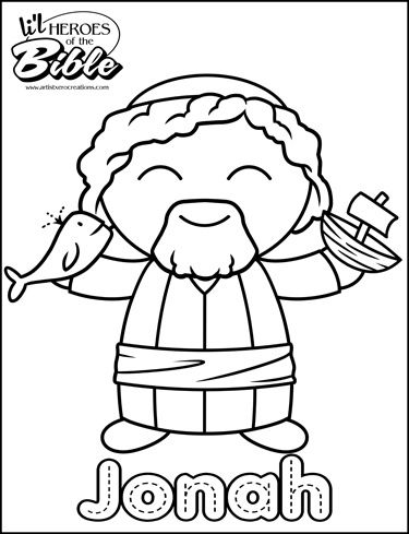 Lu0027il Heroes of the Bible Jonah Sunday school, Bible and Hero - copy colouring pages of jonah and the whale
