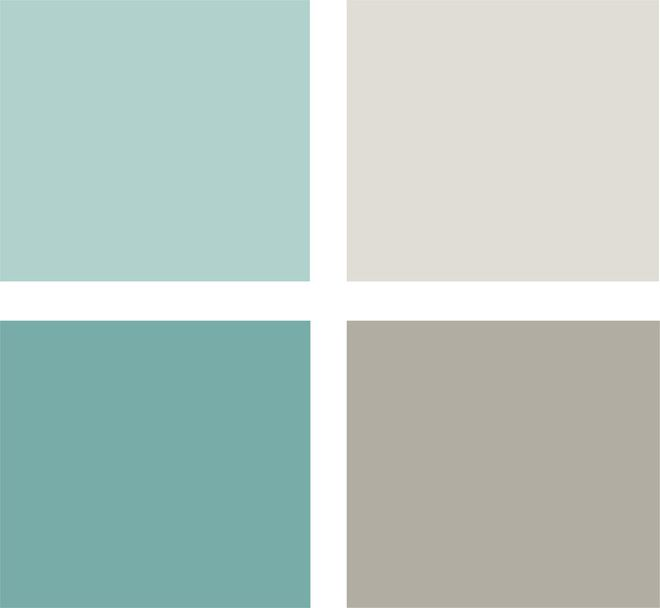 Soft Blue Green Tones And Warm Grays Clockwise From Top Left All Glidden Tropical Lagoon Glb20 D8 Silver Birch Gldn35 Wood Smoke Gln40