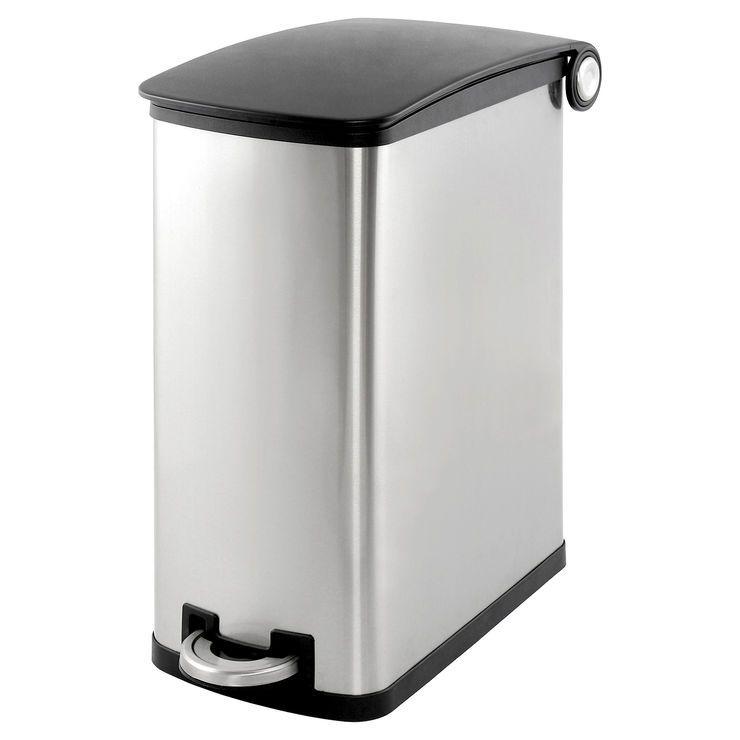 Simply Kleen 45-in. Galvanized Slim Garbage Can | Kitchen | Pinterest