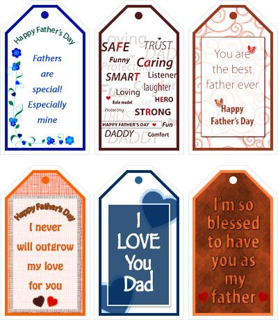 photograph about Free Printable Fathers Day Tags titled Totally free Printable Fathers Working day Present Tags - my-absolutely free-printable