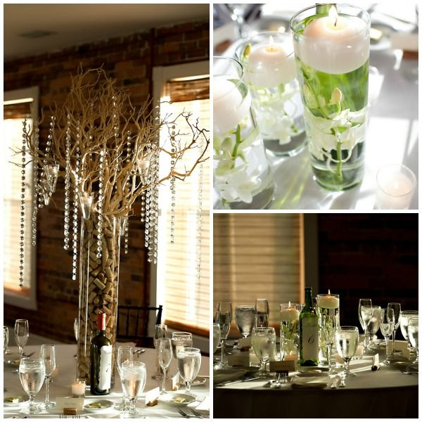 Cork Wedding Decorations: Wine & Cork Centerpieces