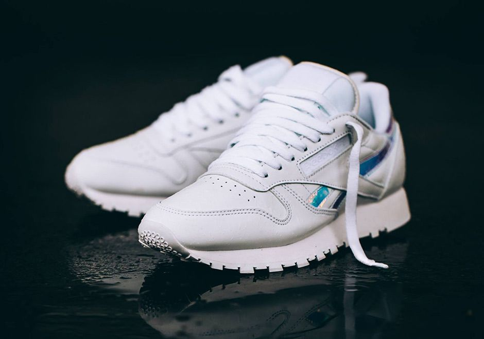 authentic quality better lace up in Reebok Classic Leather Women Iridescent Stripes | sneakers ...