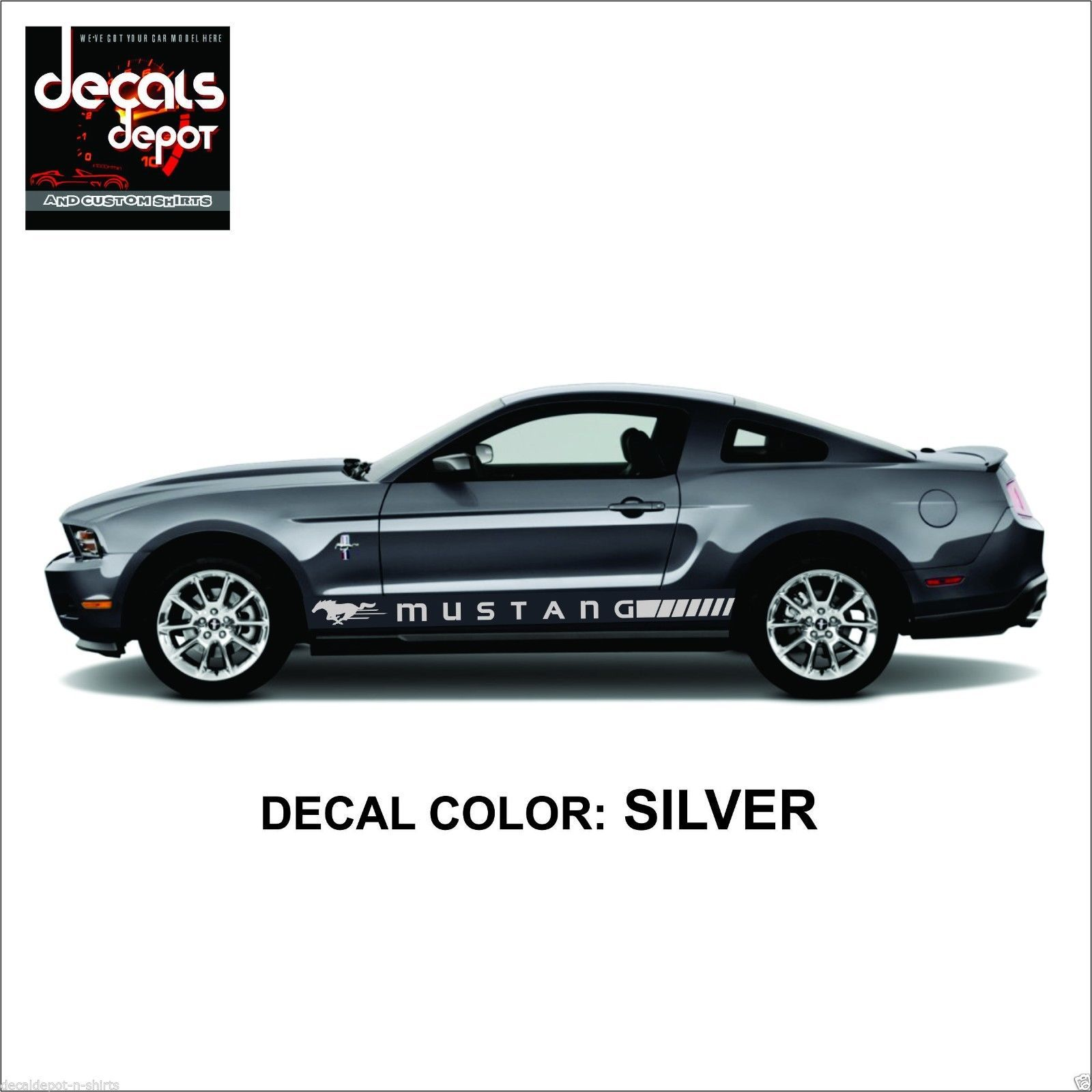 Ford mustang rocker panel door side stripes decals rj strips stickers lower ebay