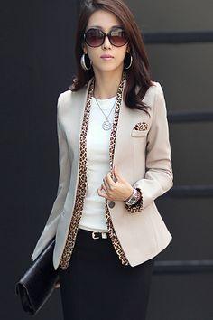 Corean Fashion New Apricot Blazer