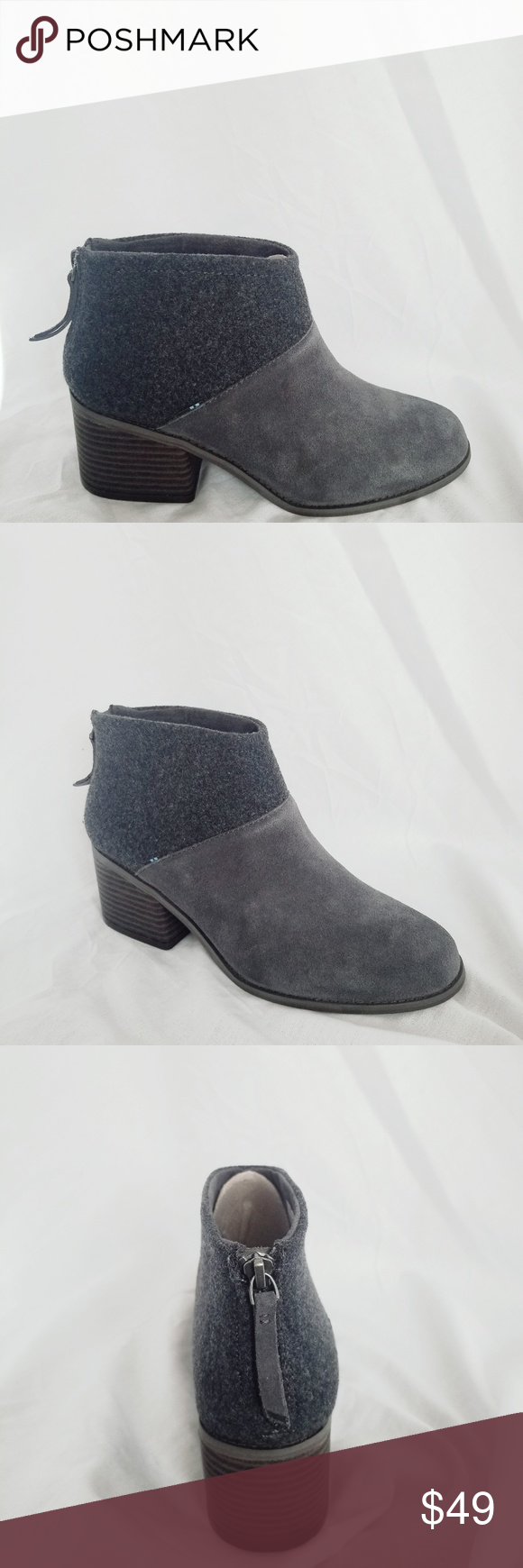07882b2b5db NEW TOMS Lacy Boot Gray TOMS Style  Lacy Booties Color  Forged Iron Forged  iron
