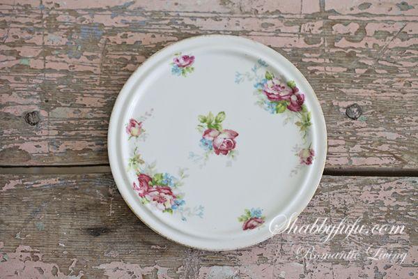 $15 Antique French Haviland Limoges Tea Tile Roses