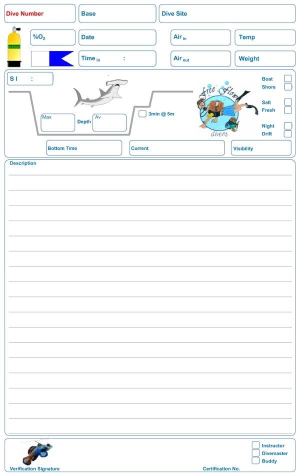 Ffd dive 600 950 projects pinterest scubas - Dive log book ...