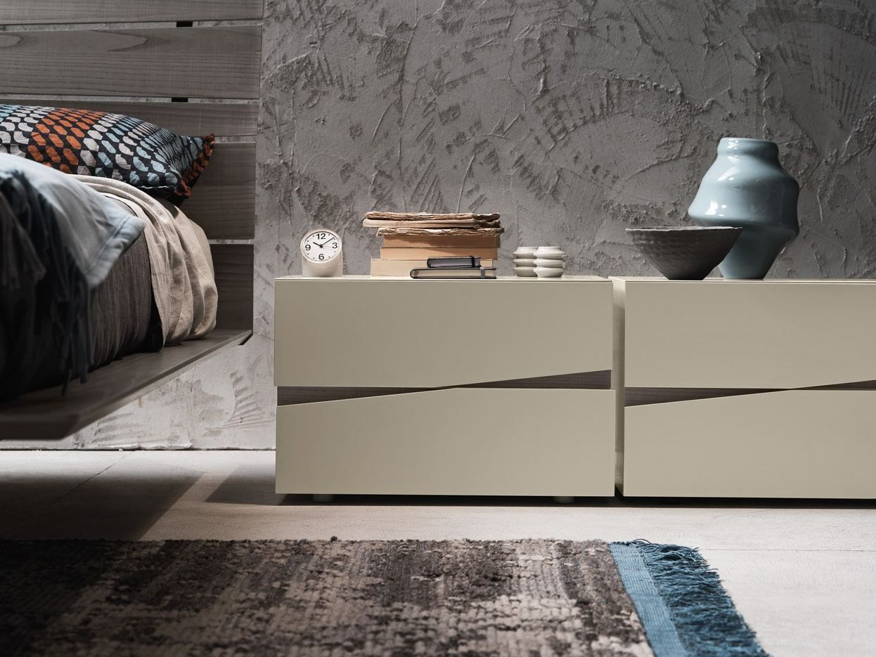 JAZZ Bedside table by Presotto Industrie Mobili design Claudio ...
