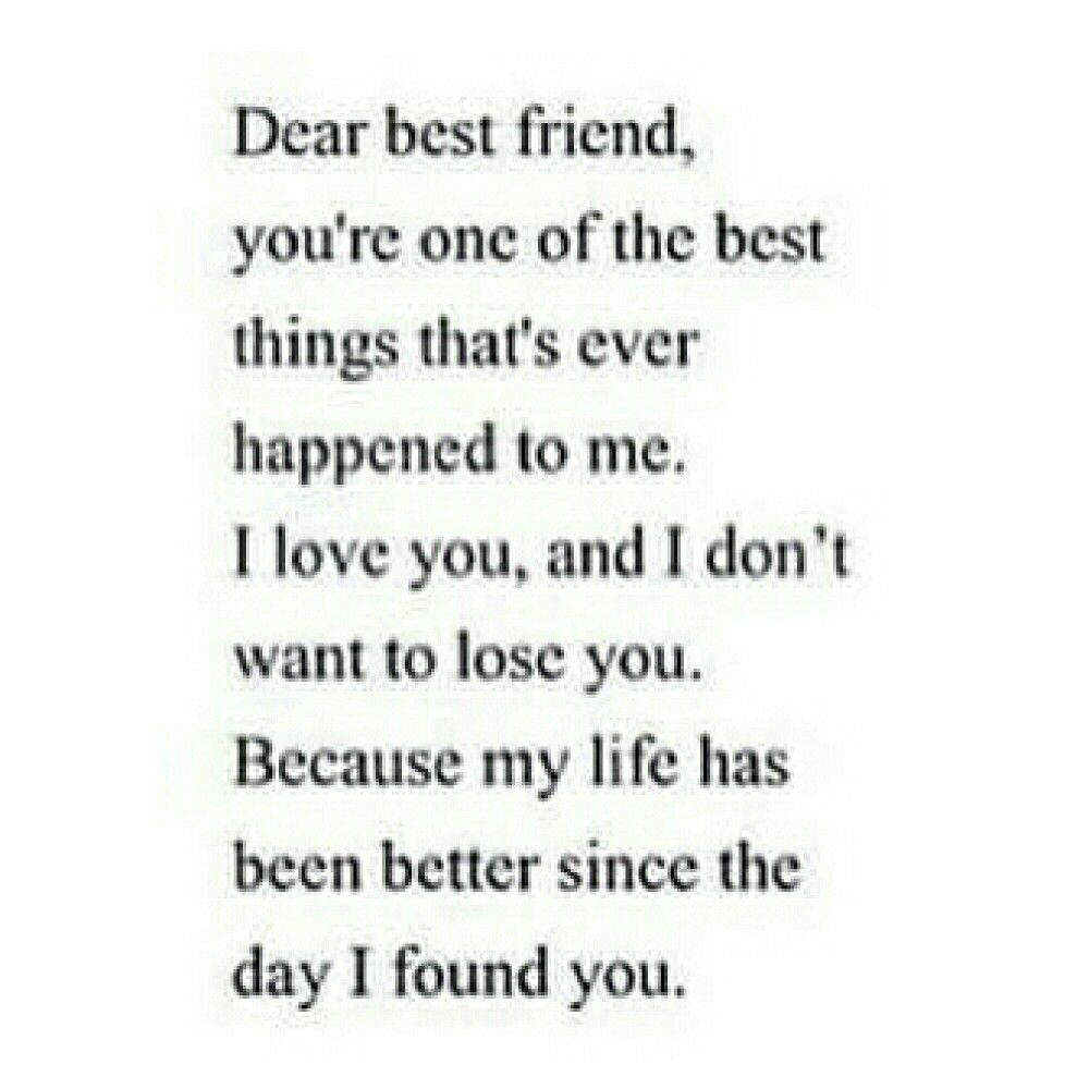 This goes out to my best friend