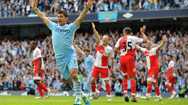 Sergio Aguero v QPR  I'm not a fan of Manchester City but