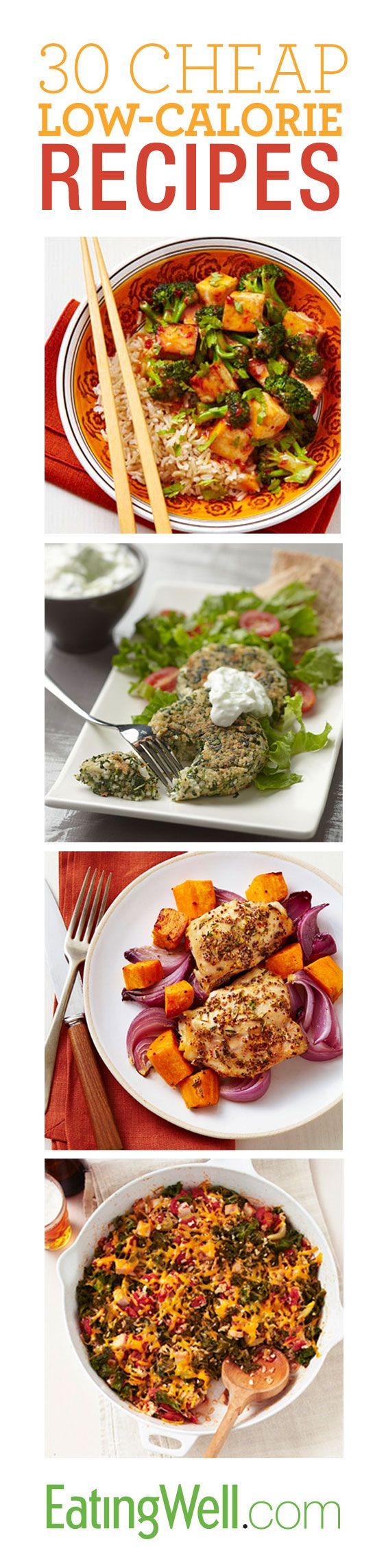 Save money and slim down with these 30 cheap diet recipes.