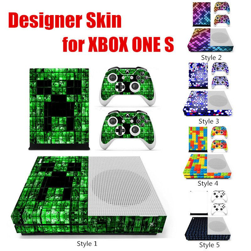 Colorful Grid Series Designer Skin for XBOX ONE S Gaming Console + ...