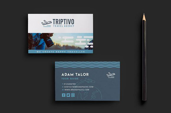 Travel company business card template business cards in 2018 travel company business card template cheaphphosting Images