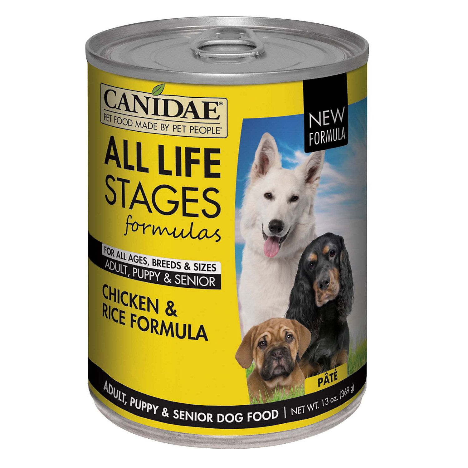 CANIDAE All Life Stages Chicken & Rice Wet Dog Food, 13 oz