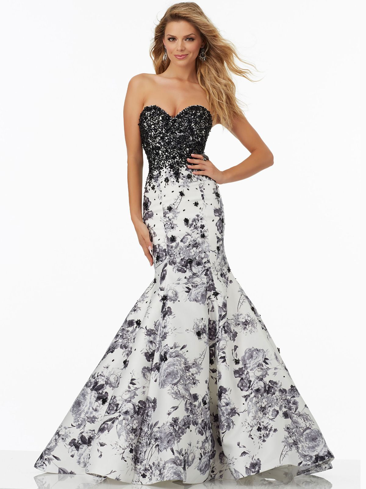 Morilee Com Black And White Gowns Mori Lee 99150 Beaded Bodice Prom Gown Dressprom Net Mori Lee Prom Dresses Mermaid Prom Dresses Bodycon Prom Dresses [ 1601 x 1200 Pixel ]