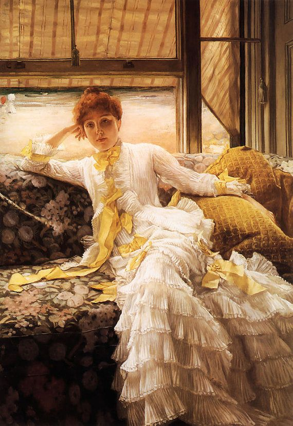 Seaside Woman James Tissot French Victorian 1878 by Vintagemasters