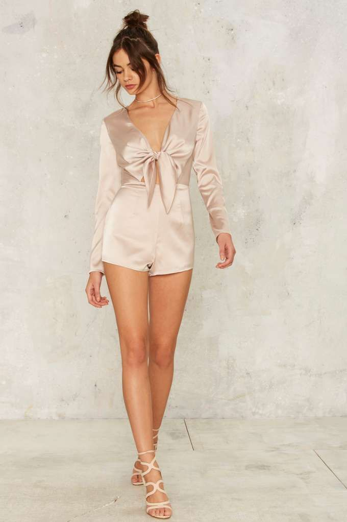 e0580232c8 Sleek Havoc Satin Romper - Clothes