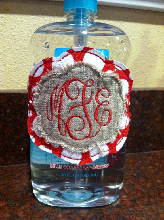 Dress Up That Huge Bottle Of Hand Sanitizer With A Monogram Label