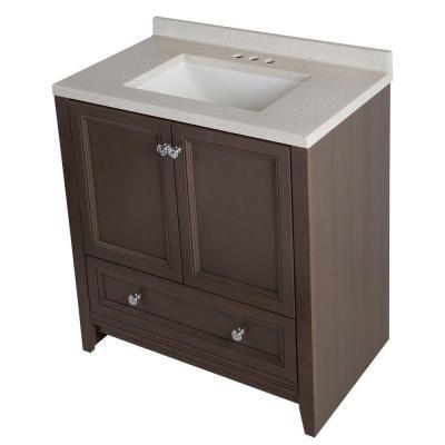 glacier bay delridge 31 in w x 19 in d bathroom vanity in rh pinterest com