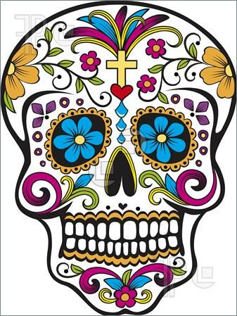 sugar skull clip art sugar skull illustration picture baby rh pinterest com sugar skull clipart black sugar skull clipart