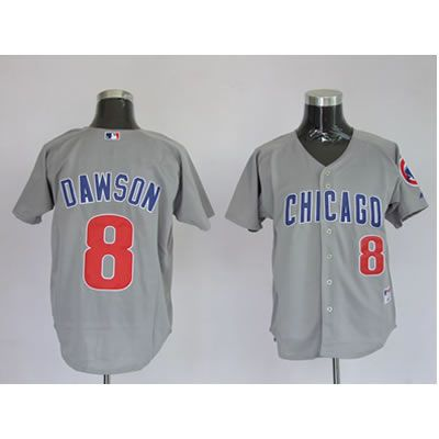 Dawson Grey Jersey $18.99This jersey belongs to Dawson, Chicago Cubs #8  Color: grey Size: M, L, XL, XXL, XXXL  The jersey is made of heavy fabric with nylon diamond weave mesh