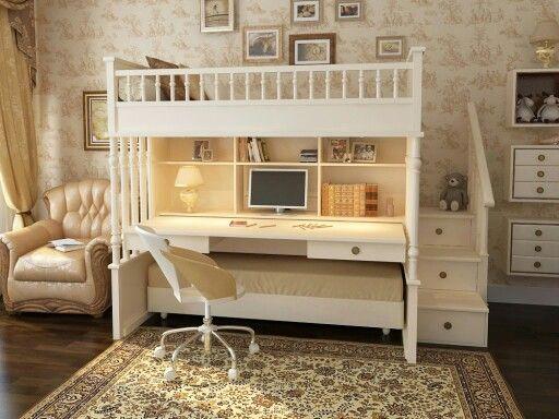 Litera con escritorio se levanta y debajo queda un mueble for Litera escritorio debajo