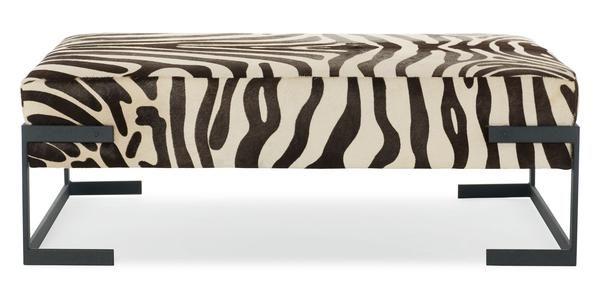 Tremendous Cowhide Zebra Print Ottoman Coffee Table Bed Down Machost Co Dining Chair Design Ideas Machostcouk